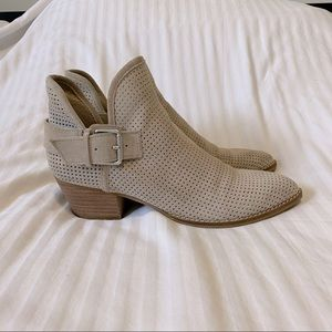 Dolce Vita Silos Perforated Suede Ankle Booties
